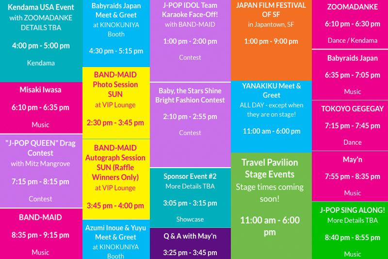 J-POP SUMMIT 2017 Time Table At One Glance!